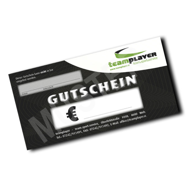 Teamplayer Gutschein